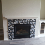 After Accent Tile on Fireplace