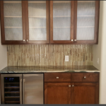 Custom Cabinets, Top, and Back Splash