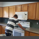 New Top and Refaced Cabinets